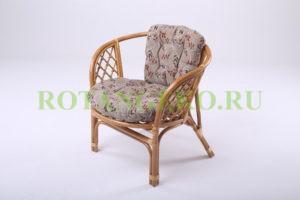 """Кресло """"Бали"""", ротанг - орех, подушки какао"""