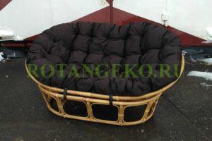 Мамасан-ротанг-орех-подушка-коричневая
