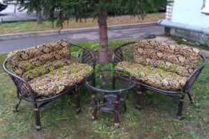 Комплект-Джакарта-ротанг-молочный-шоколад-подушки-бамбук