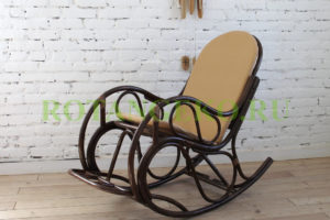 Кресло Маргонда, ротанг - молочный шоколад, подушка бежевая