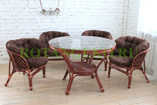 Комплект Милано, ротанг - коньяк, подушки - коричневые.jpg