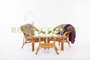 Маркос дуэт с овальным столом, орех