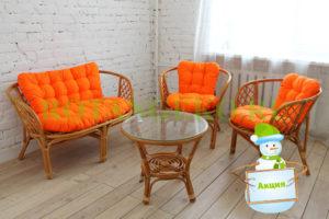 НГ Комплект Багама, орех, подушки оранжевые