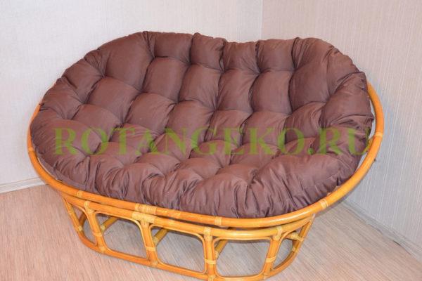 Мамасан ротанг орех коричневая подушка