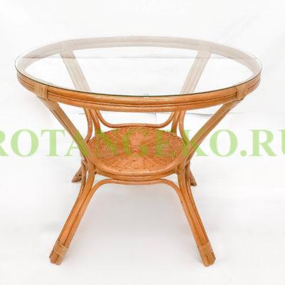 Обеденный стол, ротанг - орех