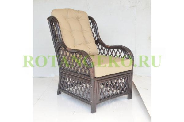 Кресло Франциско, молочный шоколад, подушки бежевые